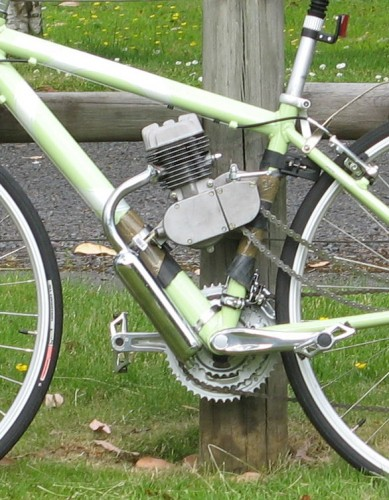 Greg Clausen's Hybri-Ped transmission system for pedal bikes