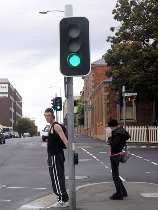 LED traffic lights use about one-seventh the power of conventional lights and last about ten times longer