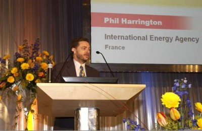 Phil Harrington talks energy policy to an international audience
