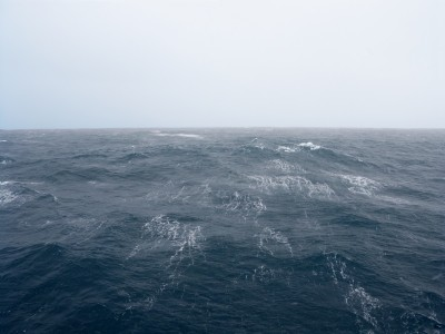 Streaks of surface foam herald a coming storm in the world's most turbulent waters, the Southern Ocean.