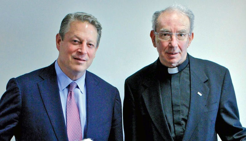Archbishop Adrian Doyle with Al Gore, Sydney, 2009