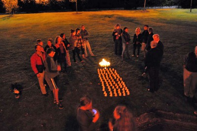 VIGIL FOR THE CLIMATE: an Earth Hour gathering in St David's Park, Hobart, 26 March 2011. Photo Lorraine Perrins.