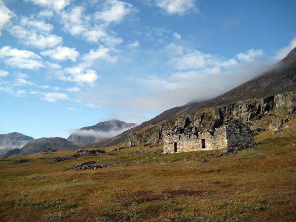 Ruins of a 14th century church at Hvalsey fjord near Qaqortoq in the far south of Greenland, built when the island's Viking era was coming to an end. PHOTO BROCK UNIVERSITY, ONTARIO, CANADA