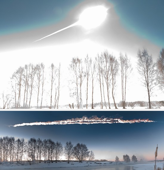 The spectacular death of the Chelyabinsk meteor, 15 February 2013. PHOTO MARAT AHMETVALEEV