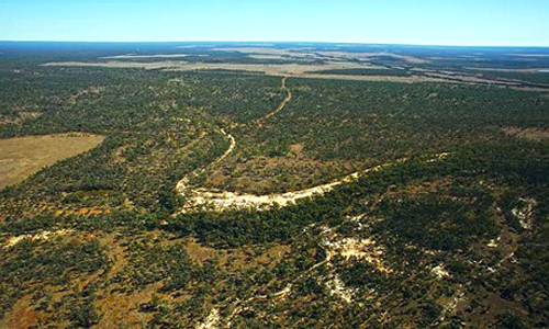 Galilee Basin country, 300 km west of Mackay, Queensland. PHOTO ANDREW QUILTY/AAP