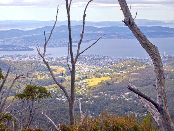 Hobart from Mt Wellington. PHOTO SUSAN MOORE, huonvalley.blogspot.com
