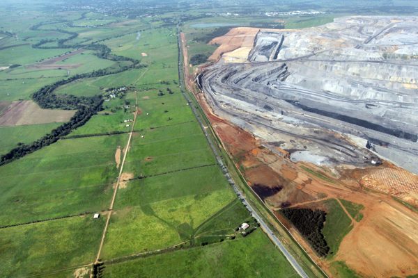 Rio Tinto's Bengalla coal mine in the Hunter Valley, NSW. PHOTO LOCK THE GATE ALLIANCE