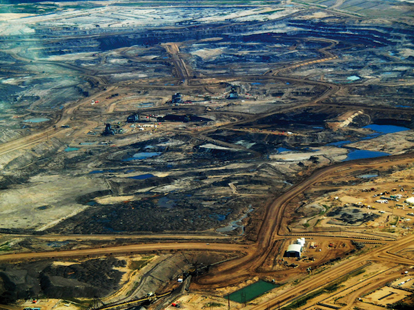 Northern Alberta's new-look landscape, courtesy of Big Oil. PHOTO Howl Arts Collective, Montreal