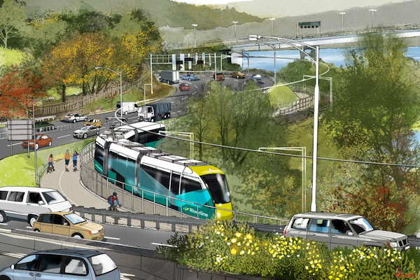 Hobart light rail: artist's impression