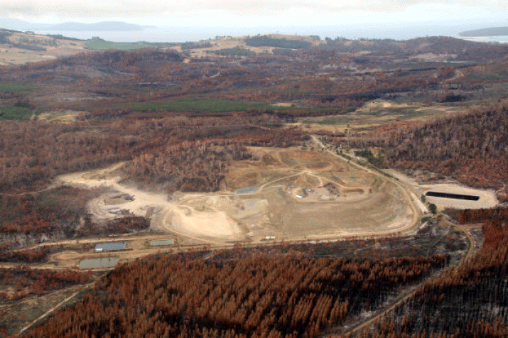 Site of the Copping C Cell, proposed for long-term hazardous waste disposal. PHOTO Shane Humpheries/TasmanianTimes