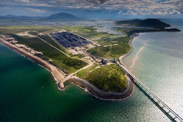 Abbot Point coal terminal would be greatly enlarged if the Carmichael mine goes ahead. PHOTO ABC