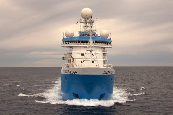 RV Investigator, the new CSIRO marine science platform. PHOTO CSIRO