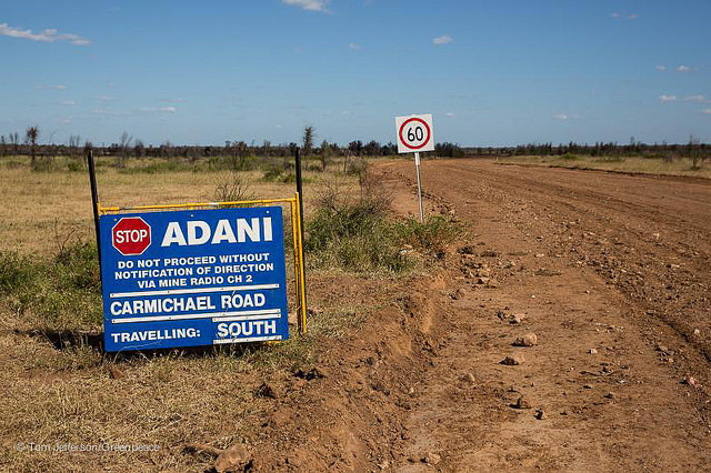 Entering the Adani Carmichael mining lease, inland from Mackay, Queensland. PHOTO Tom Jefferson/Greenpeace