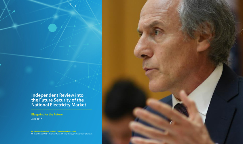 Chief scientist Alan Finkel and his energy report. PHOTO AAP