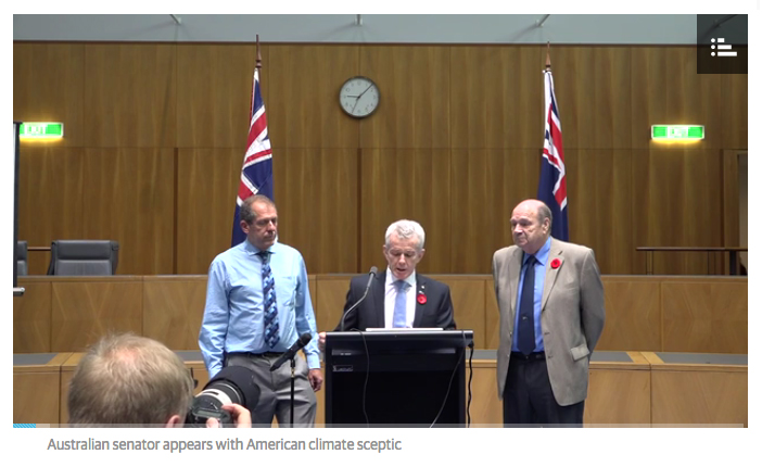 The video of Malcolm Roberts' media conference last November, as it appeared in Andrew Bolt's blog.