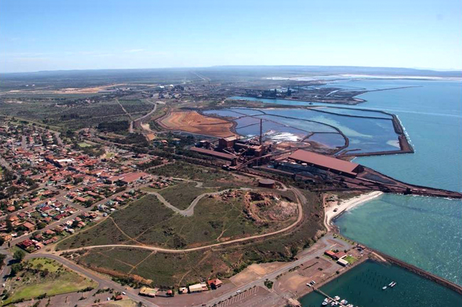 Whyalla township, steel mill and port. PHOTO Whyalla News