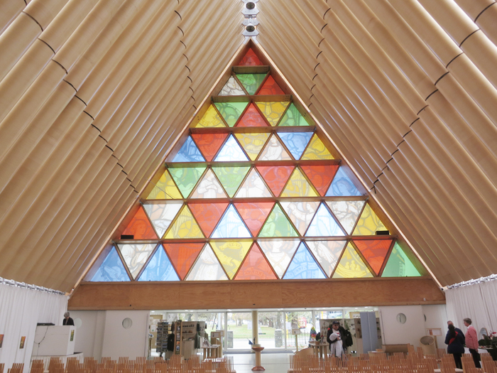 "Christchurch's airy new ""Cardboard Cathedral"""