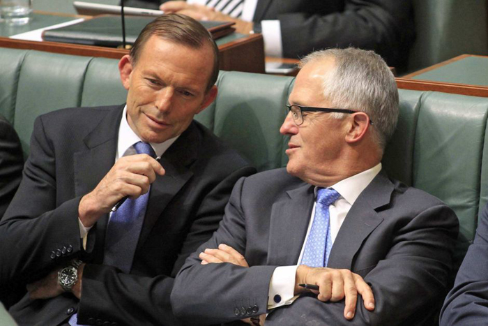 Abbott and Turnbull in more collegial times. PHOTO ABC