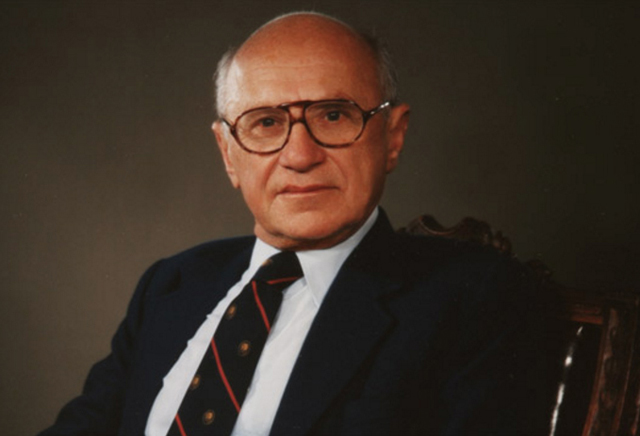 Milton Friedman, the Nobel Prize-winning economist who was the leading light in modern free-market economics. PHOTO CNN