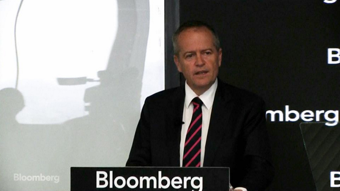 Bill Shorten delivers his energy plan. PHOTO Bloomberg